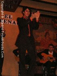 A male flamenco dancer entertains the crowds