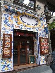 Just One of The Many Authentic Tapas Bar in Madrid Don Jamon