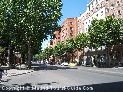The Street Past The Agumar Hotel Madrid