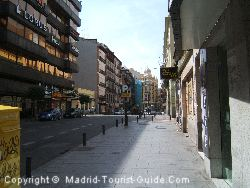 The Street Leading To Gran Via From The Sterling Hotel Madrid