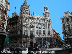 One Of The Splendid Buildings Next To The Asturias Hotel Madrid