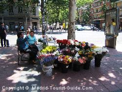 You Can Find Flower Sellers Near The Carlton Hotel Madrid