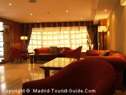 The Bar Area Just Off Reception In The Coloso Hotel Madrid