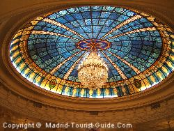 The Beautiful Stained Glass Ceiling In The Fenix Gran Hotel Madrid Melia