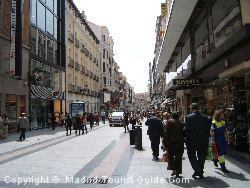 The Main Shopping Street Just A Few Metres From The Hotel Carlos V Madrid