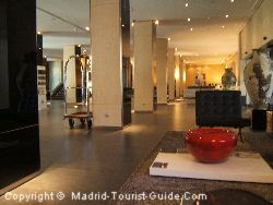 The Spacious Lobby In The Hotel Cuzco Madrid