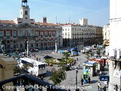 The View Of Puerta Del Sol From A Room In Hotel Europa