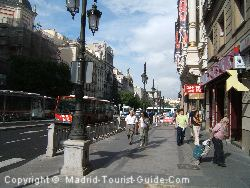 Calle Alcala Near The Hotel Madrid Vincci