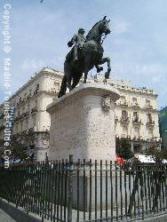 The Central Statue In The Puerta Del Sol Square