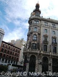 The Ornate Building Opposite The Hotel Regina Madrid