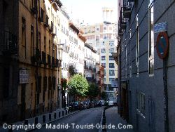 A Picturesque Side Street Next To The Hotel Santo Domingo Madrid
