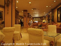 The Reception Of The Hotel Santo Domingo Madrid Contains Antiques And Valuable Paintings and Furnishings