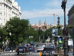 The Road Leading To The Thyssen And Prado Museums From The Hotel Villa Real Madrid
