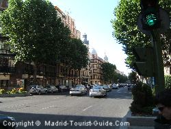 The Street Of Velazquez Next To The Wellington Madrid
