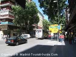 The Street Next To The Praga Hotel Madrid