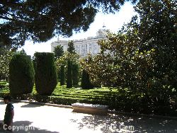 The Sabatini Gardens And The Royal Palace Are Across The Road From the Principe Pio Hotel Madrid