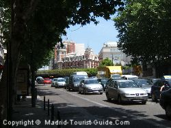 The View From Outside The Principe Pio Hotel To The Attractive Buildings Near Plaza Oriente