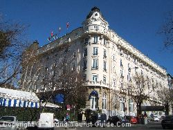 The Ritz hotel is one of the classiest hotels in Madrid and it's just off the Paseo del Prado