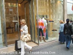 Shopping at the boutiques in Salamanca district