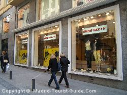 A wide selecton of women's shops are in Madrid centre.