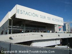 The Estacion del Sur Bus Station in Madrid
