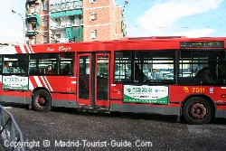 The EMT Madrid Buses are easy to Spot